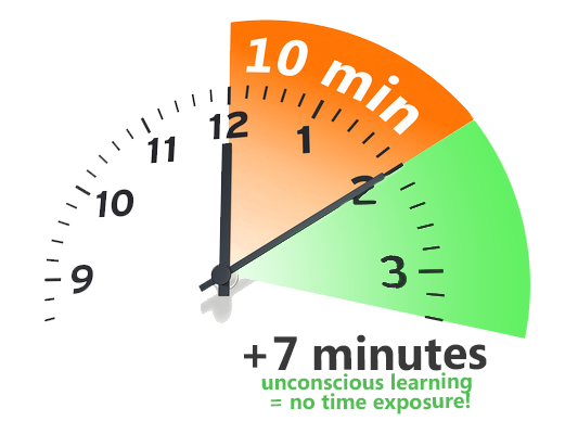 faster language learning - 10 minutes exercise